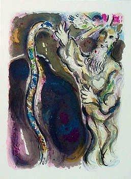 271: Marc Chagall RARE Colored Lithograph Sale