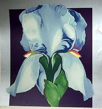 1449E: NESBITT Large Silver Leaf Signed Ltd Ed Purple
