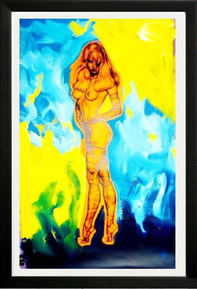 COLORFUL NUDE PAMELA ANDERSON POP ART ORIGINAL PAINTING