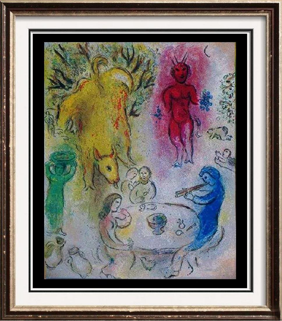 Marc Chagall Colored Lithograph Dealer Liquidating
