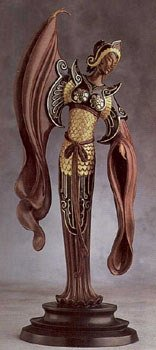 4379: Bronze Ltd Ed Sculpture Erte RARE Liquidation Sol