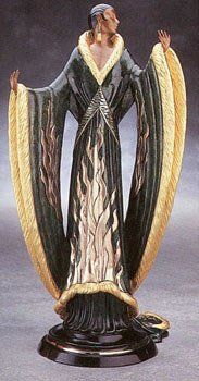 4389: Bronze Ltd Ed Sculpture Erte RARE Liquidation Sol