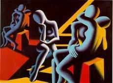 5373: Mark Kostabi Pencil Signed Ltd Ed Pop Abstract Ar