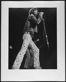 050976B: Mick Jagger RARE Original Photograph Signed 19