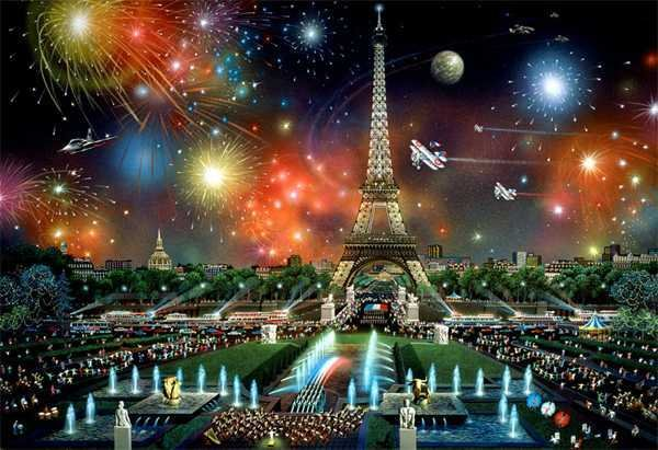 2960B: Paris Eiffel Tower Collectible Art Huge Dealer S