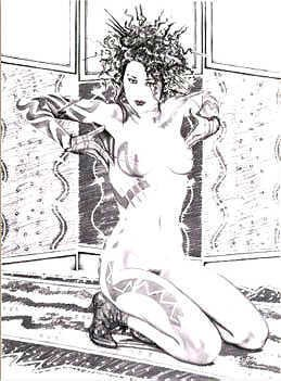 3260B: Black & White Olivia Erotica Ltd Ed Signed Art