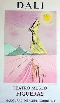 3585B: Salvador Dali Horse Lithograph HUGE ART Sale