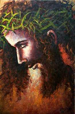 8136B: Christ Canvas Painting Original Perfect Christma