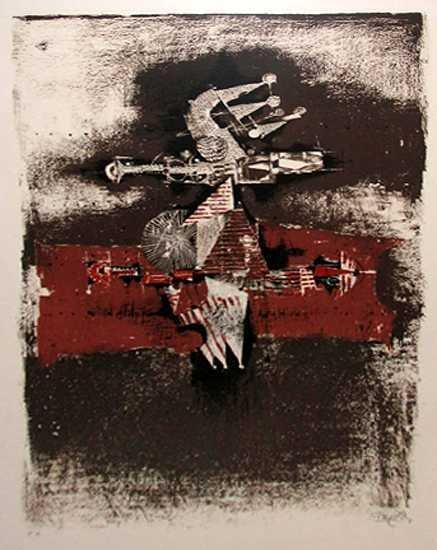 1142C: Johnny Friedlander Museum Art Ltd Ed Etching Sig