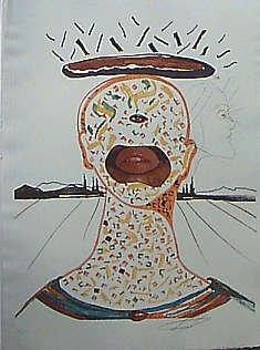 3129C: Salvador Dali Authenticated Ltd Ed Pencil Signed