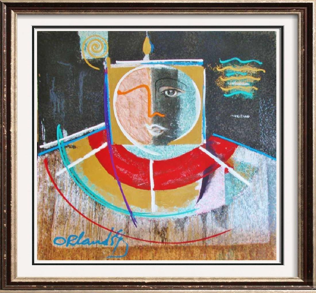 Light Orlando Botero Rare Huge Ltd Ed Estate