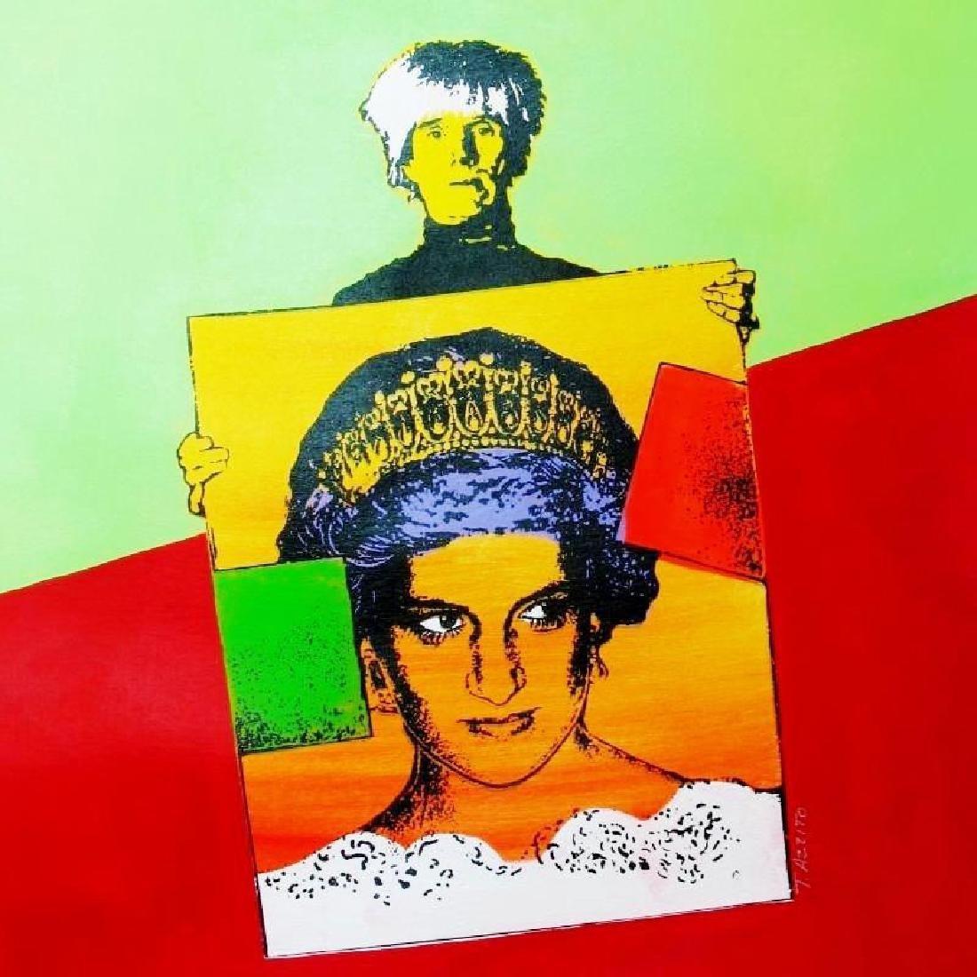WARHOL & PRINCESS DIANA POP CANVAS ART LIQUIDATION - 3