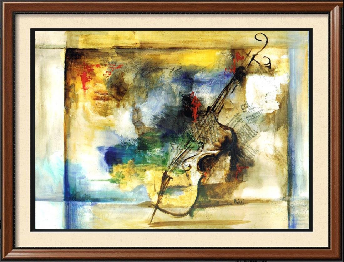 LARGE 51x74 Canvas Giclee Violin Abstract Modern Art