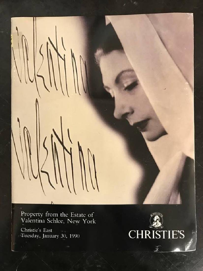 "Christie's ""Property From The Estate Of Valentina"