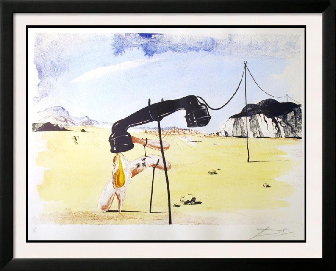 SALVADOR DALI FAMOUS MELTING TELEPHONE SIGNED LTD ED