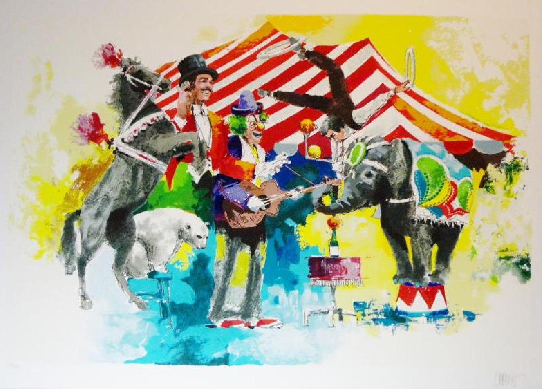 Circus Big Top Colorful Large Fun Ltd Ed Art