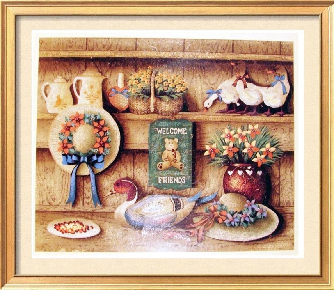 Country Home Style Original Painting On Paper Signed
