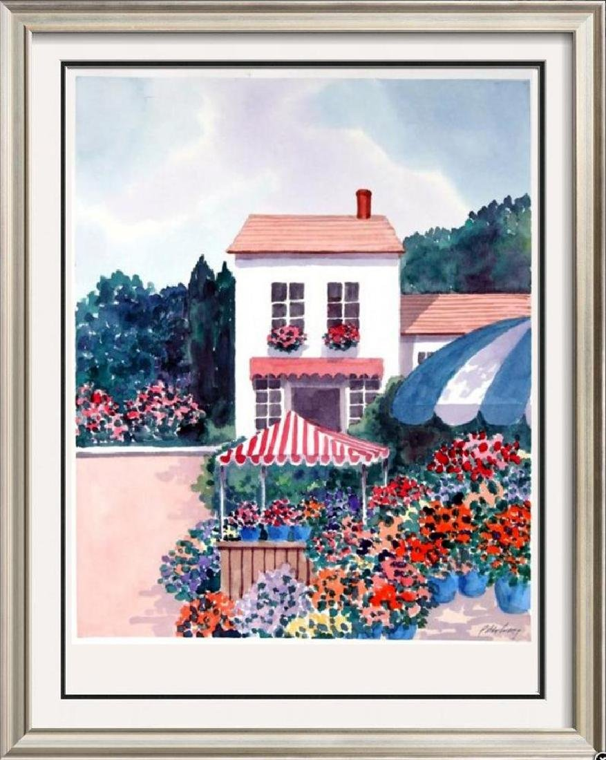 Island scene colorful Signed Original Watercolor