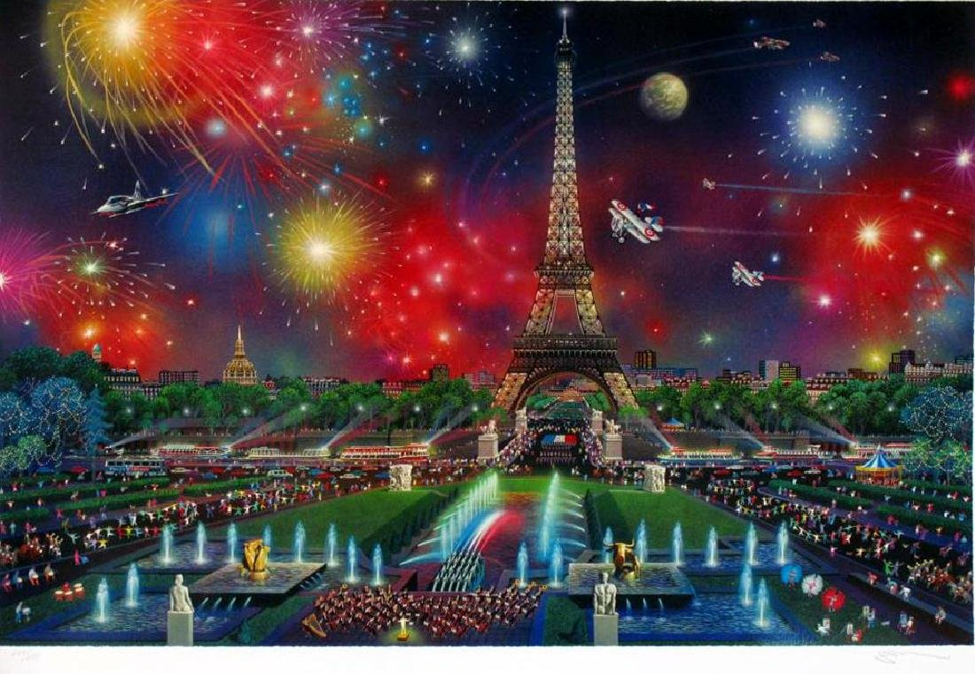 PARIS EIFFEL TOWER COLLECTIBLE ART HUGE DEALER SALE