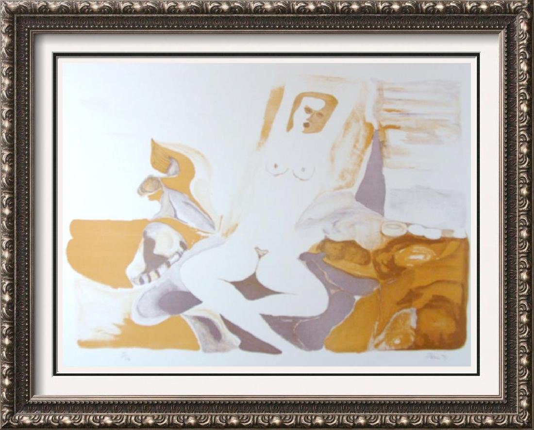 Nude Abstract Signed Art 4 Colors Availabel In Auction