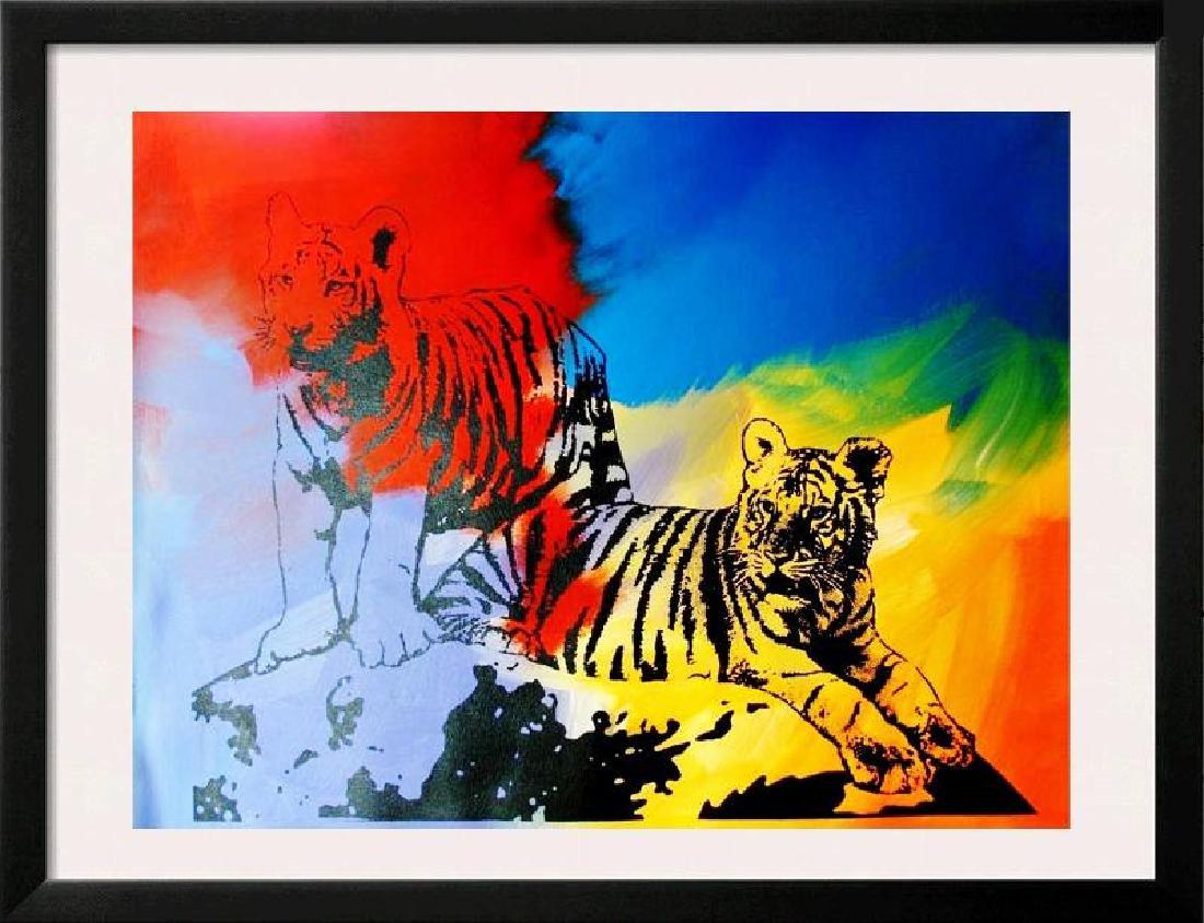 POP CANVAS TIGERS ORIGINAL ARTWORK SIGNED HUGE SALE