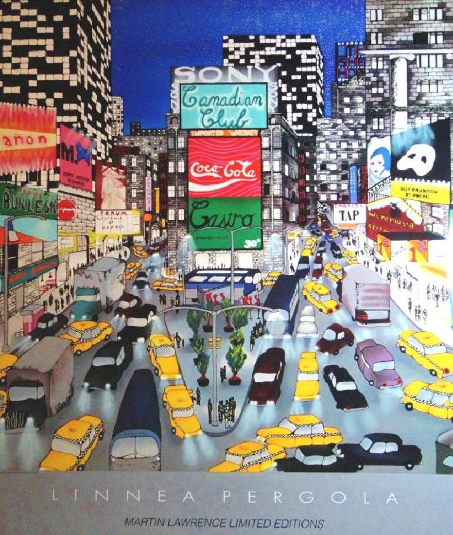 Times Square New York Collectible Colorful Pergola