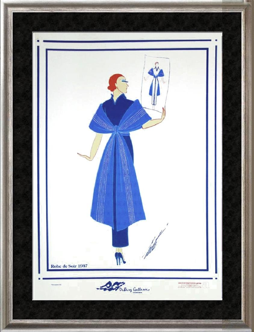 Erte Plate Signed Lithograph Art Deco Fashion Designer