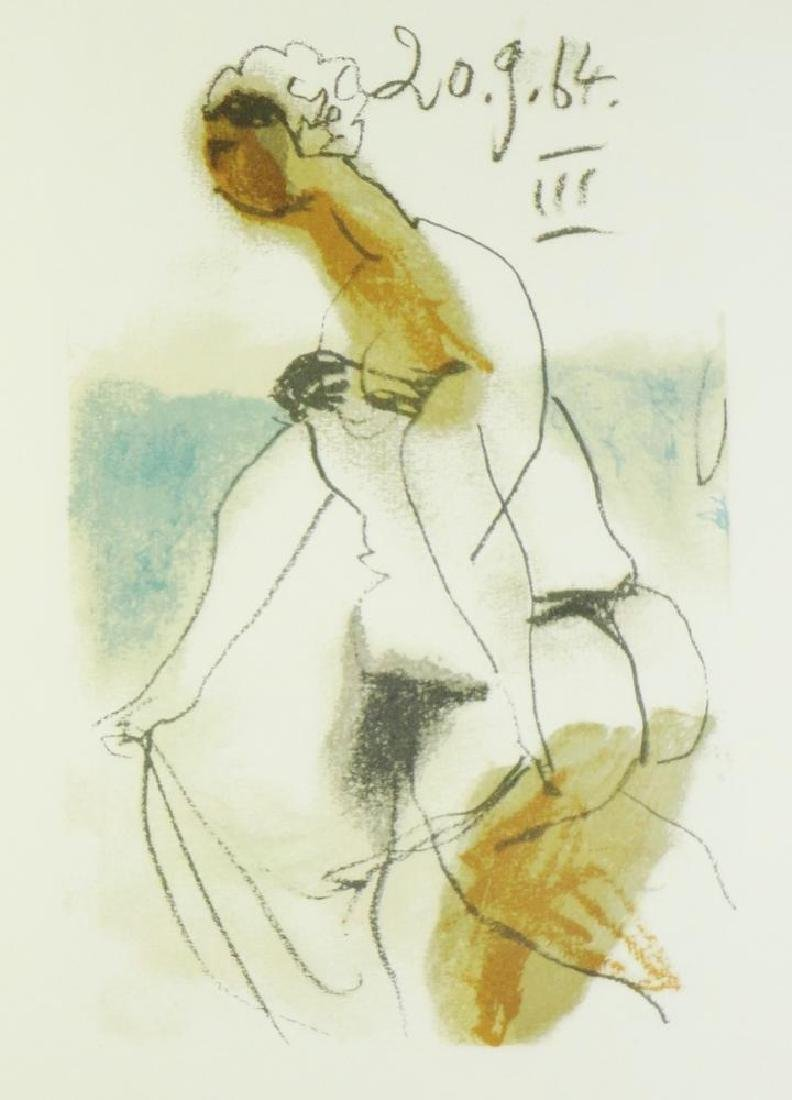 COLORED PICASSO EROTIC LIMITED EDITION HAND NUMBERED