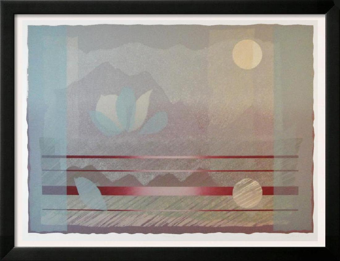 Abstract Blue Pink Mountain View Huge Sale