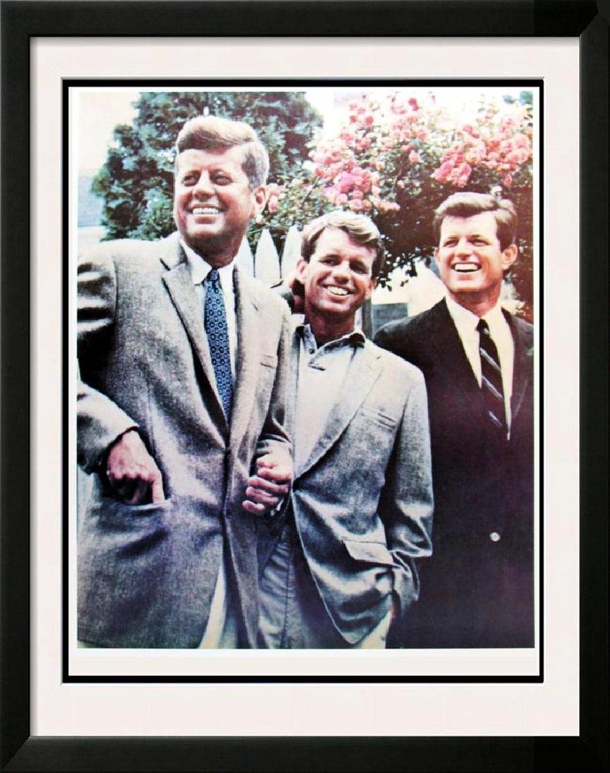 Three Kennedy Brother Lithograph Political Great Buy!