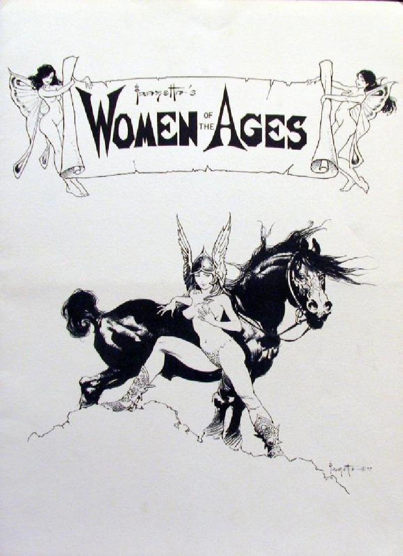 Suite of Frank Frazetta Women of Ages Collectible