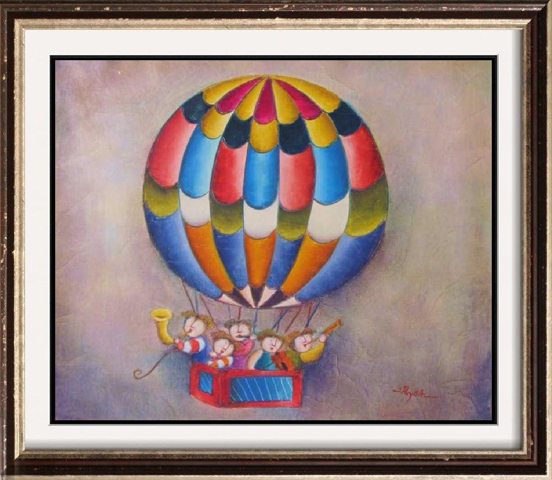 Abstract Figures Balloon Signed Original Canvas