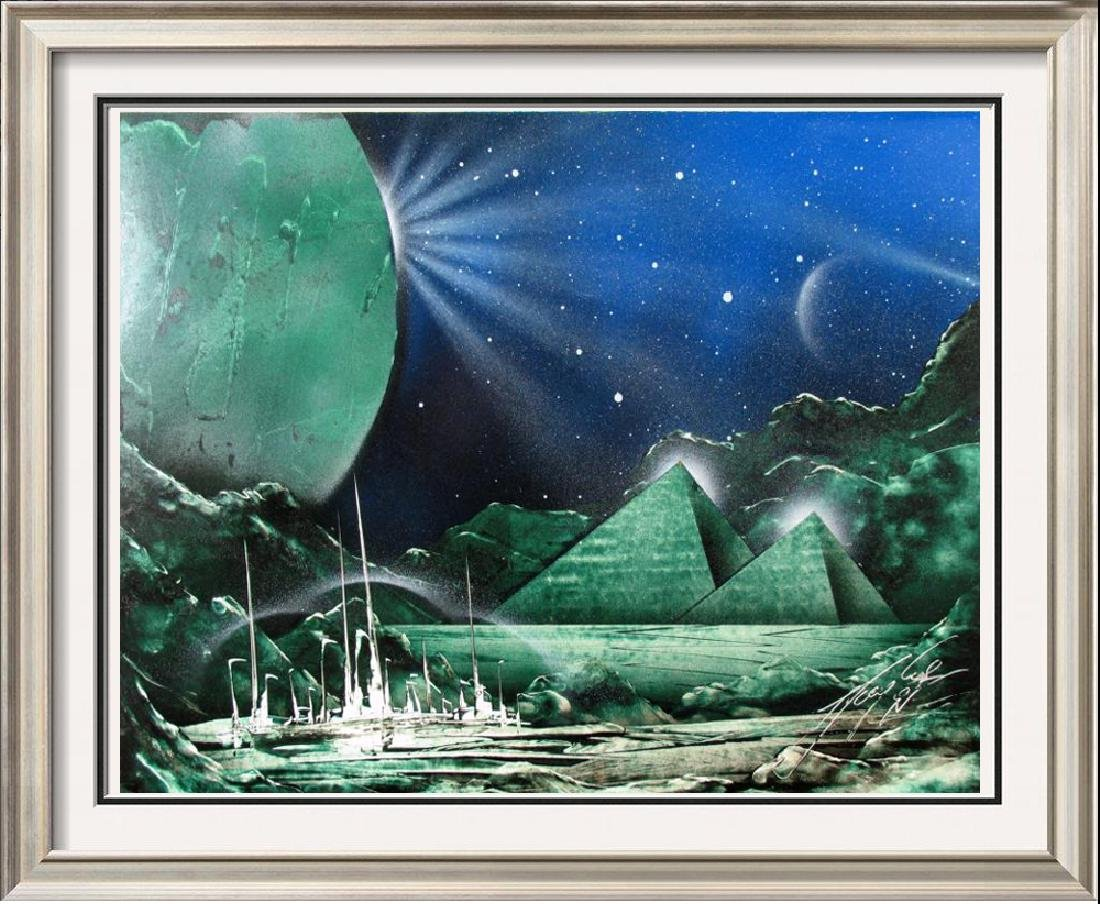 Abstract Original Space Painting Colorful