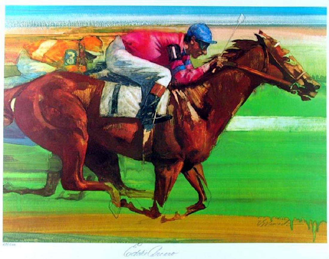 Eddie Arcaro Horse Race Limited Edition Signed - 2