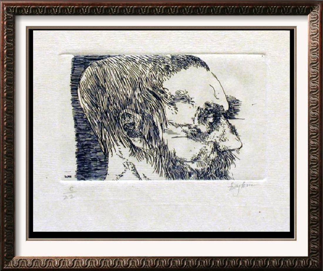 Museum Artist Leonard Baskin Limited Edition Woodblock