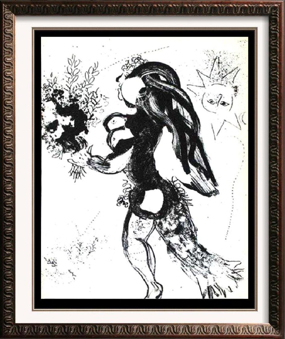BLACK & WHITE MARC CHAGALL ORIGINAL LITHOGRAPH