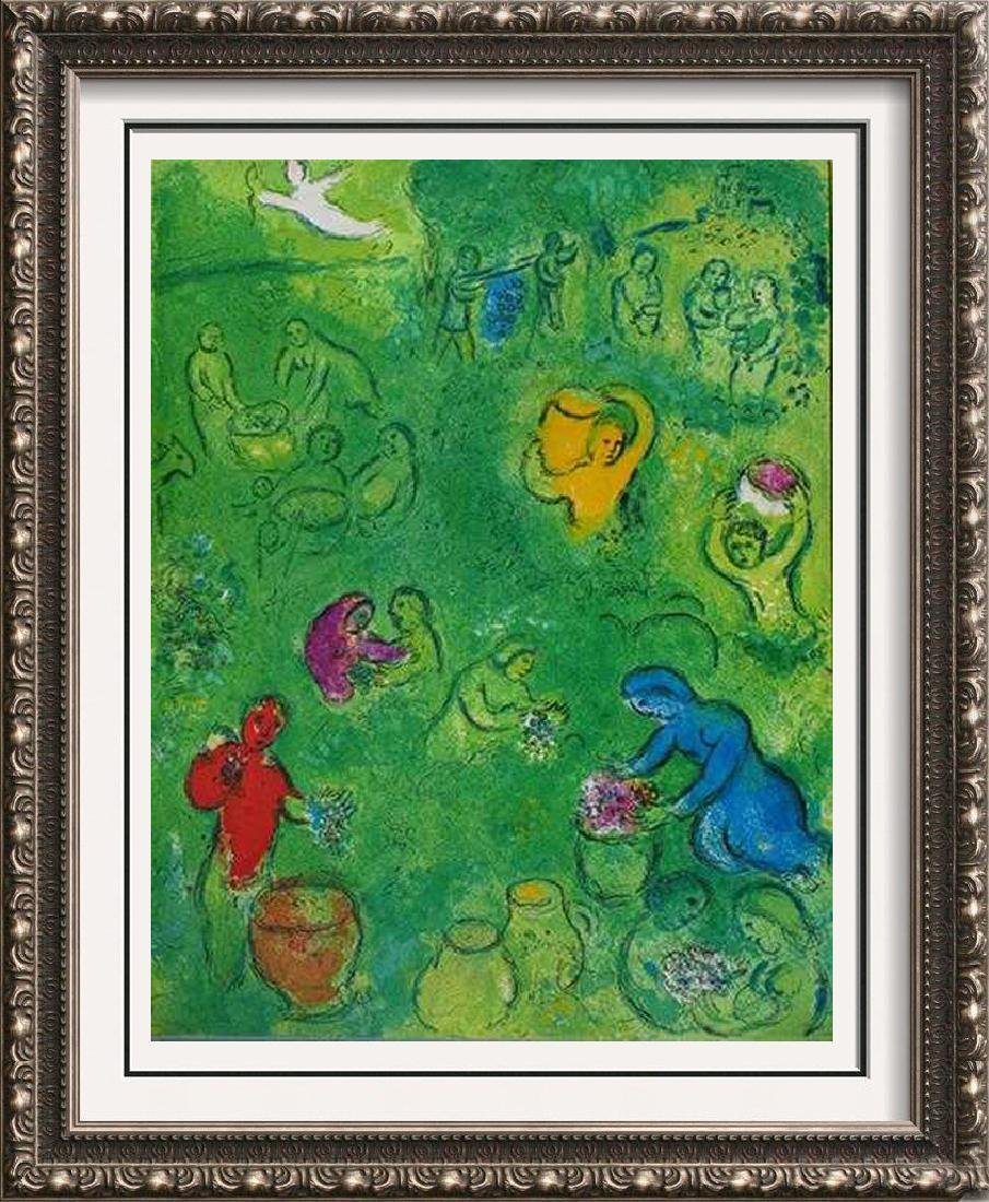 "Chagall ""After"" Colored Lithograph Rare Sale Huge"