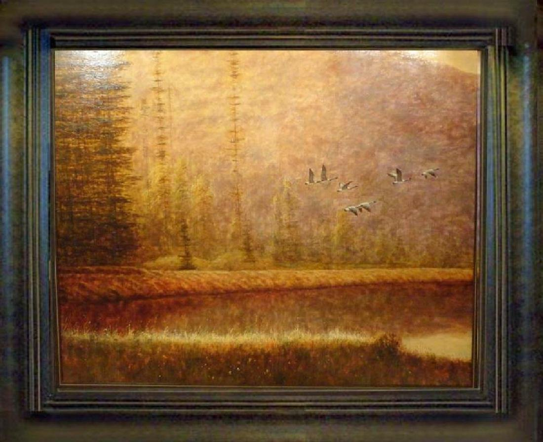 Marsh Scene Acrylic Original Sign Dealer Liquidate ART