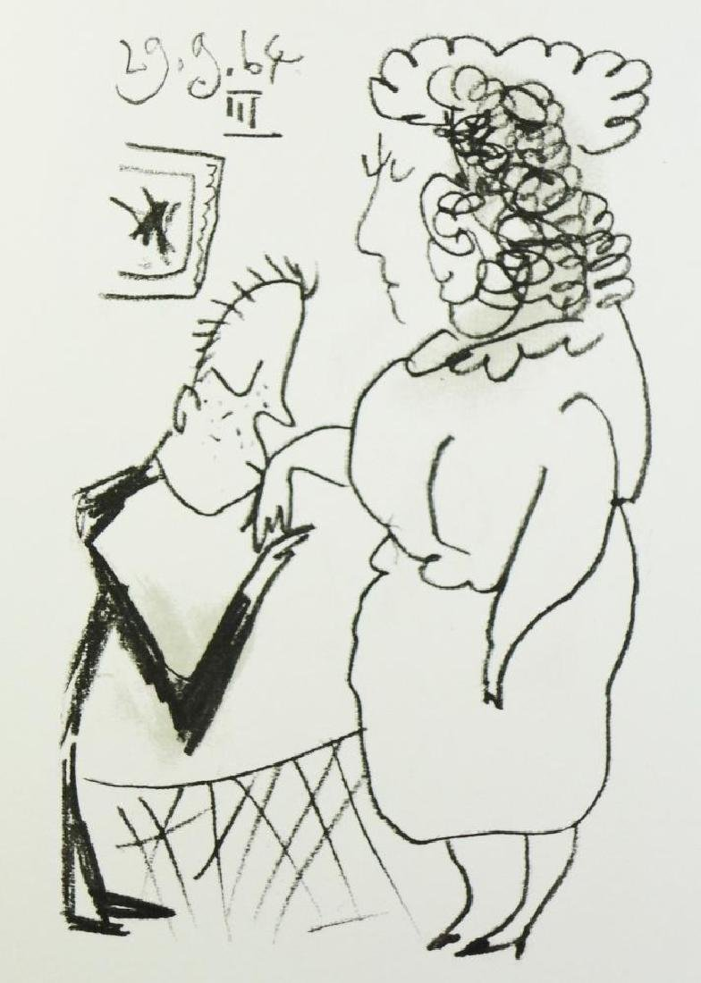Picasso Couple Rare Limited Edition Erotic Drawing