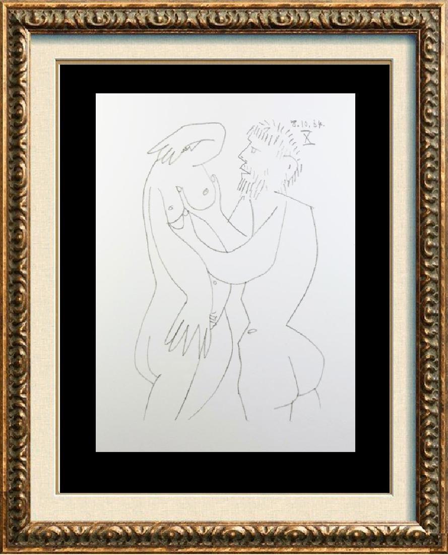 Pablo Picasso 1964 Lithograph Erotic Rare