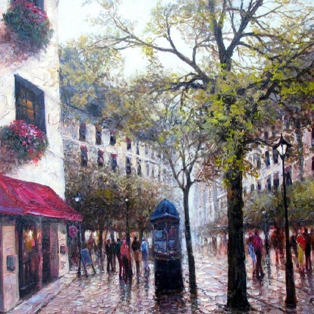 Afternoon in Paris Landscape Impressionism Textured - 2
