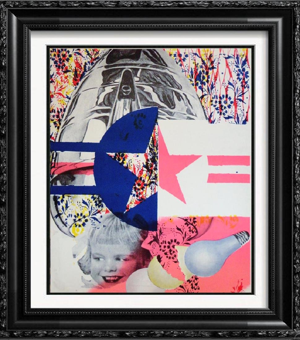 James Rosenquist Rare Original Colored Lithograph Art