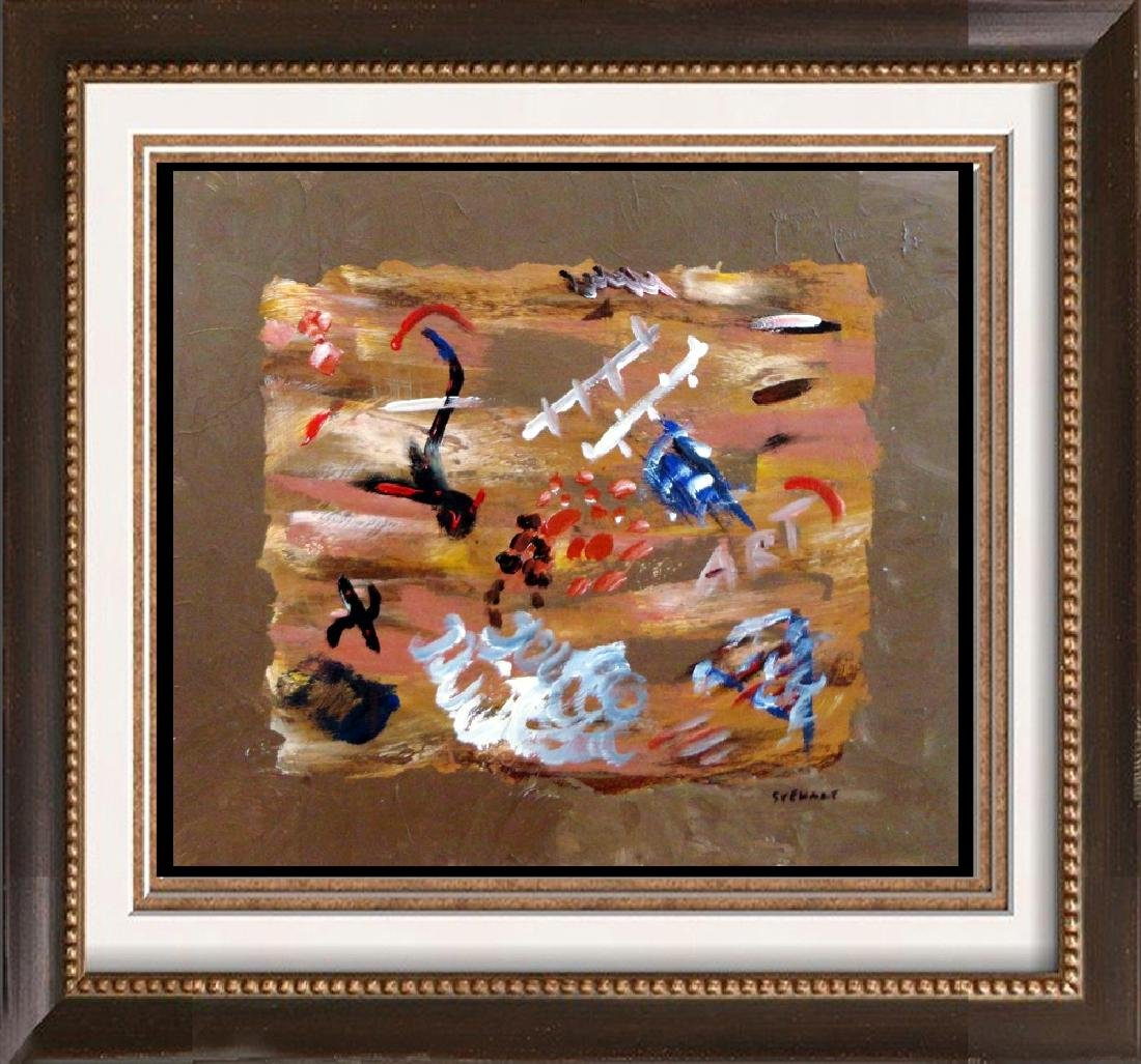 Modern Abtract Original Signed Painting on Board