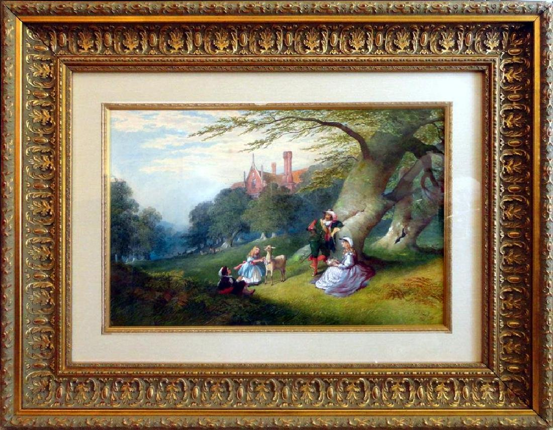 Charles Frederick Buckley Family and a Cavalier in the