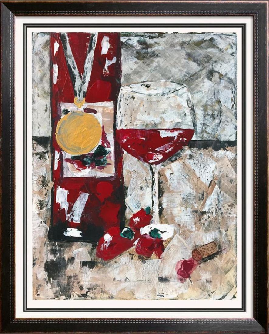 Swahn Perfect Wine Acrylic on Canvas Heavy Texture