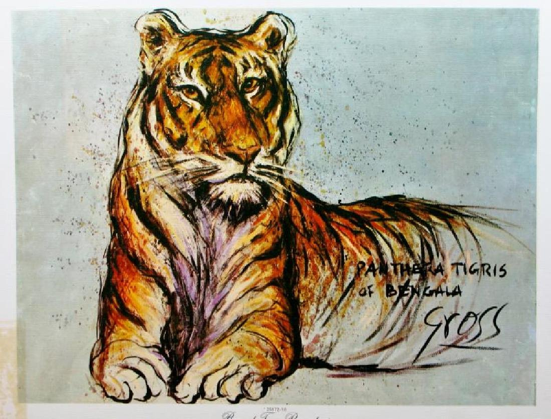 Tiger Lithograph Signed Colorful Art For Sale
