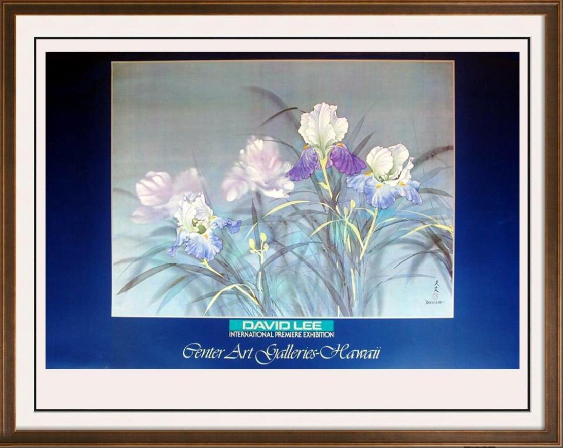 David Lee Plate Signed Floral