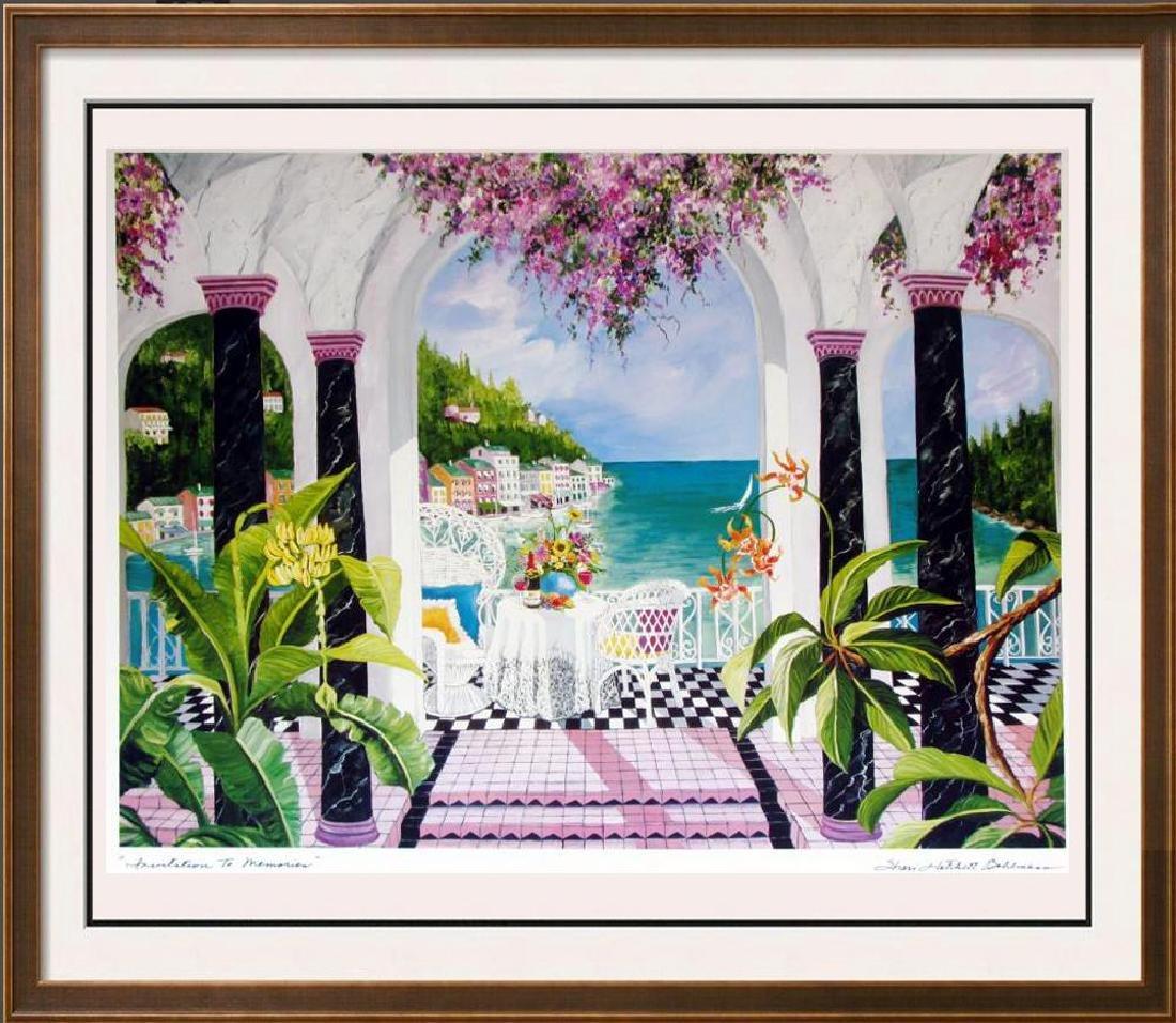 Shari Hatchett Bohemann Signed Tropical View Colorful