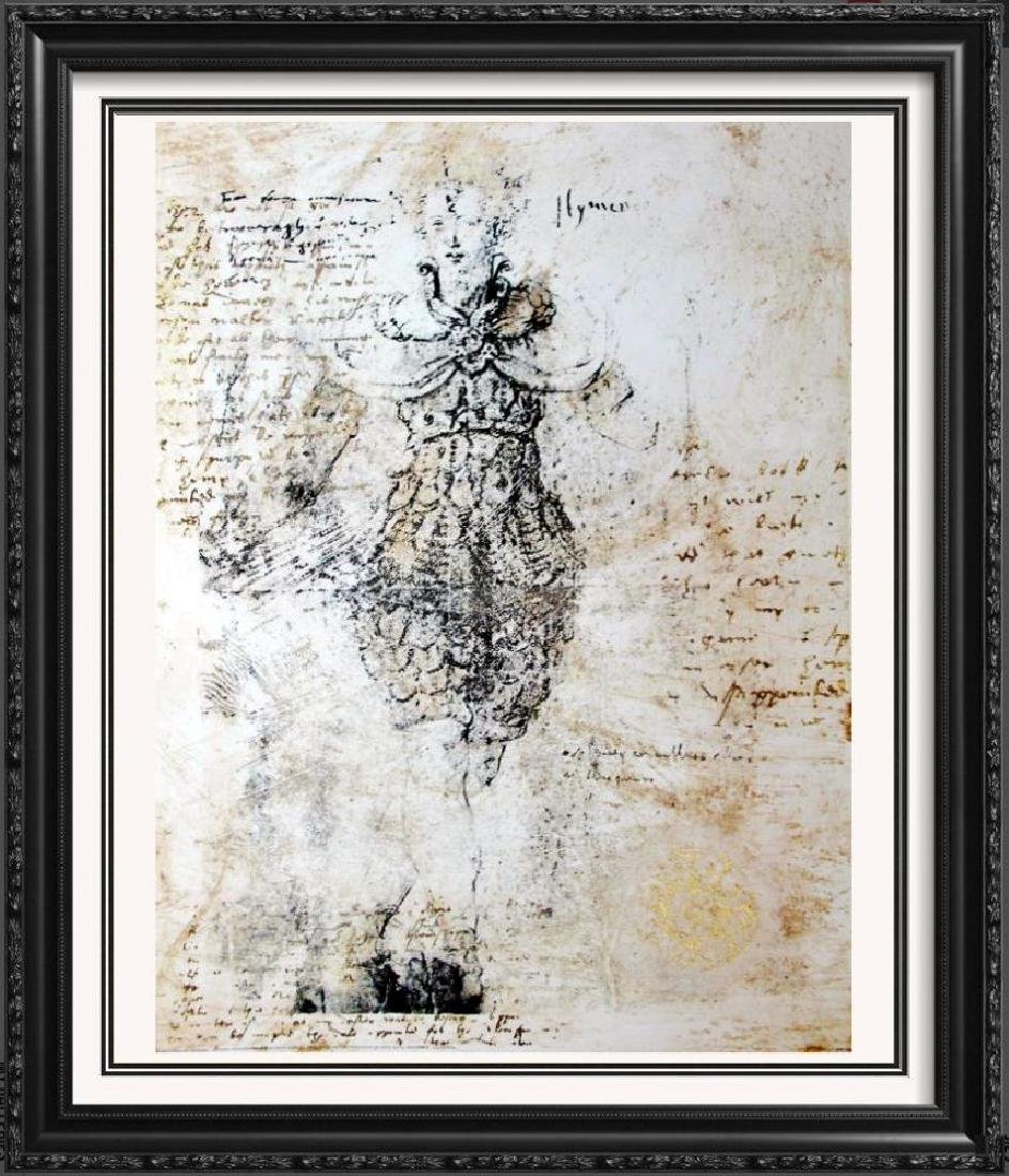 Abstract Figure Neo Classical Print 1998 Printed In