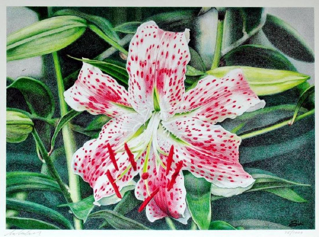Hand Signed & Numbered 75/1000 Floral Print - 2
